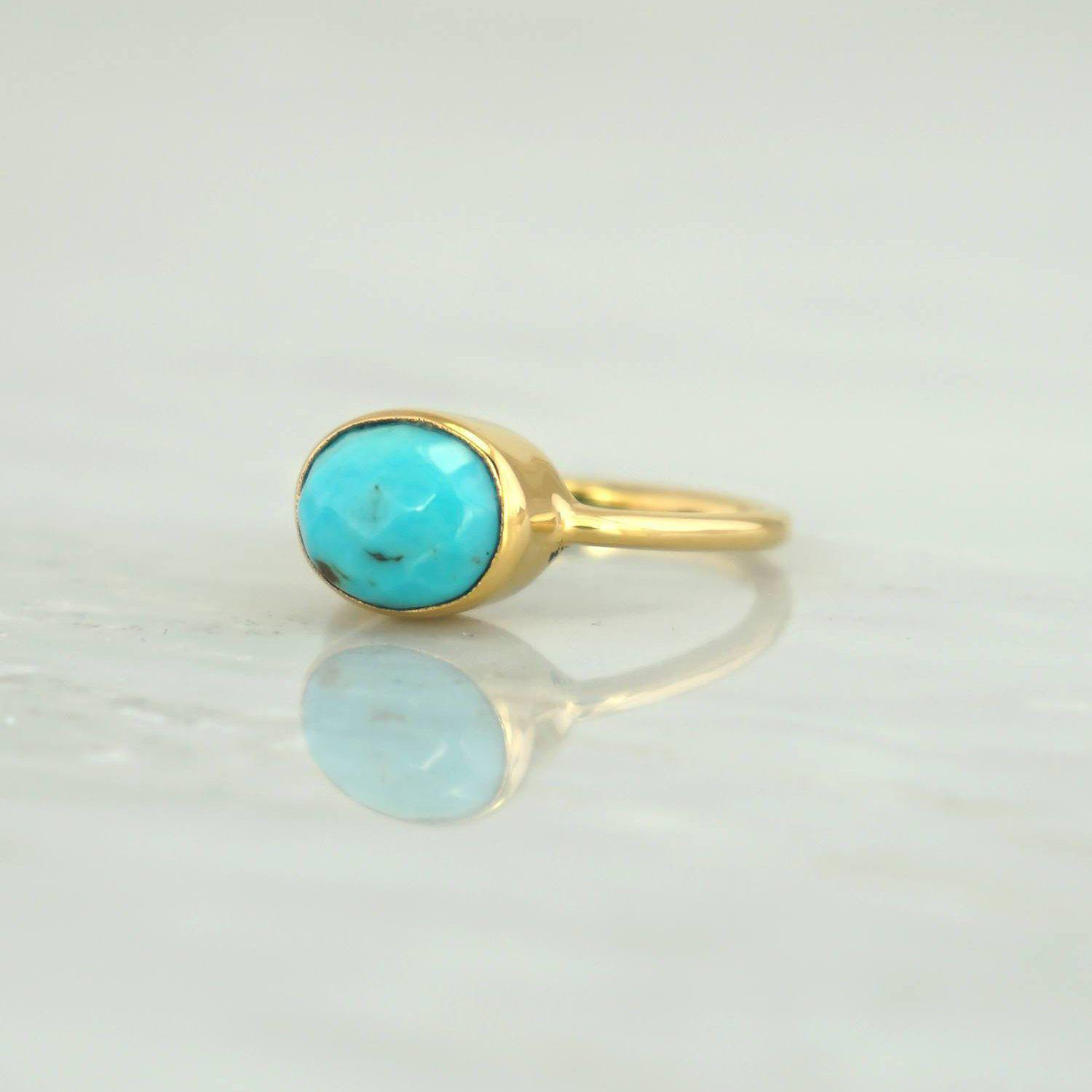Jane Austen ring, Turquoise Ring, Oval Turquoise Ring, Sleeping Beauty Ring, December birthstone, Silver Ring, 925 Silver,Everyday Ring
