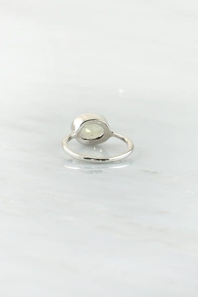 Lemon Quartz Ring, Gemstone rings, November Birthstone, Stackable Gold Ring , Genuine Gemstone Ring, Oval Stone Ring, Silver Ring