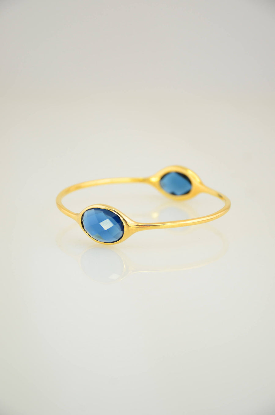 Sapphire Bangle, Gems Bangle Bracelet, Christmas Gift, Birthstone Bangle, September Birthstone, Designer Bangle, Stackable Two stone Bangles