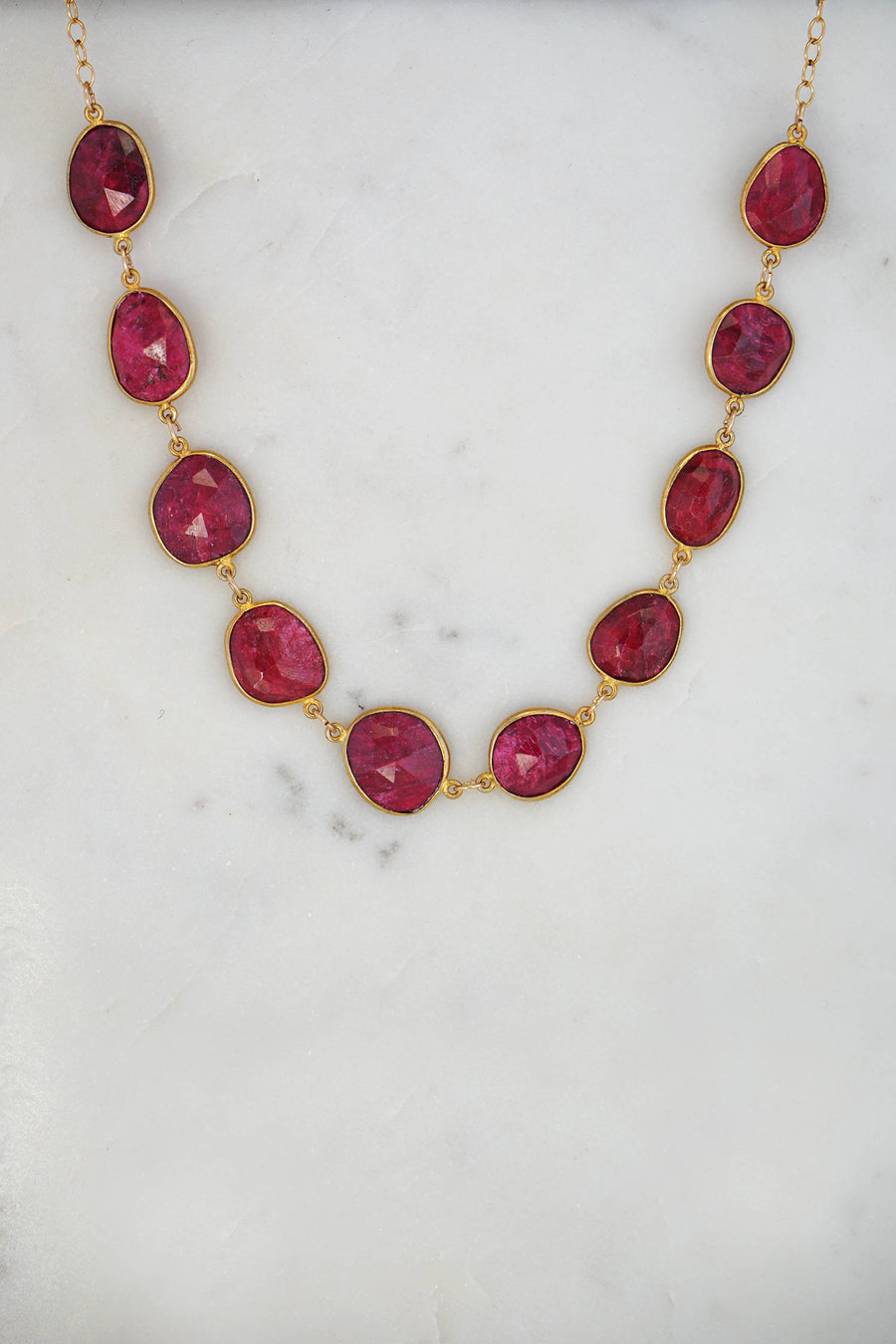 Ruby Necklace. July Birthstone Necklace, Valentine's Gift, Statement Necklace, Gift for her, Gold Filled Necklace, Designer Elegant Necklace