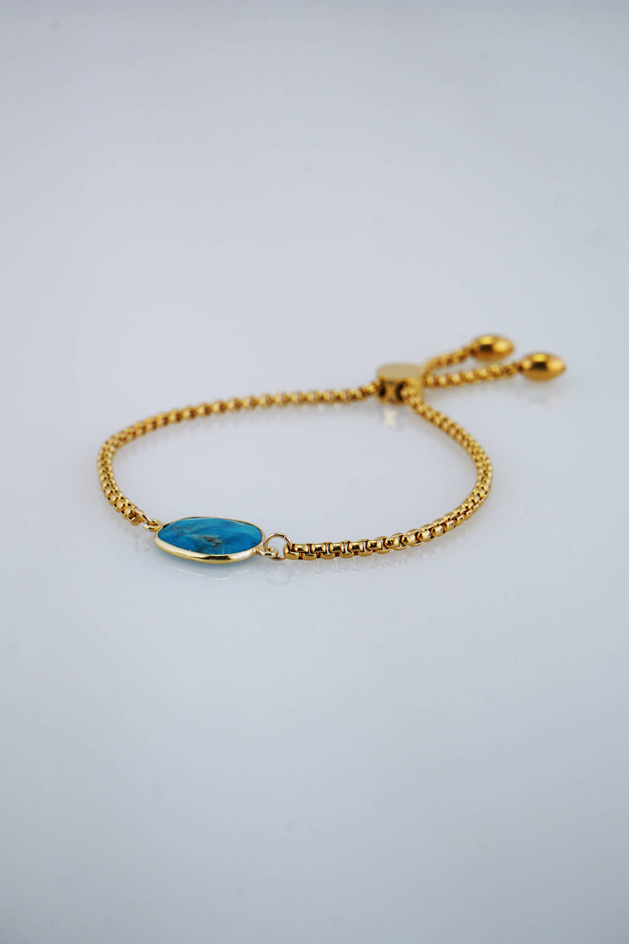 December Birthstone Bracelet, Turquoise Gemstone Bracelet, Adjustable bracelet, Gold Designer Bracelet, Bezel set bracelet, Bridesmaid Gift