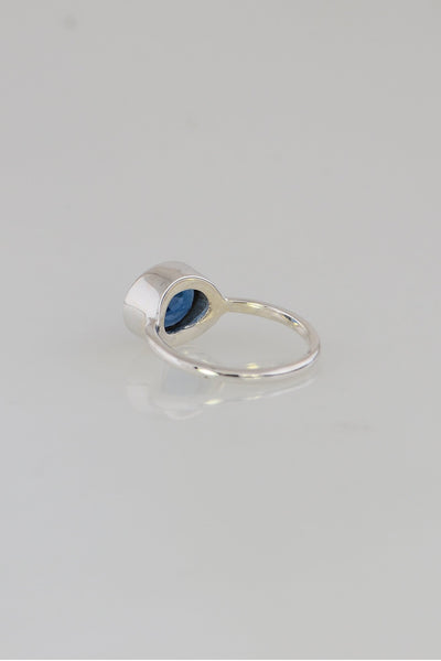 Stackable Ring, September Birthstone ring, Gemstone Stacking ring, Blue Sapphire Ring, Everyday ring, Sterling Silver ring, Gift for her