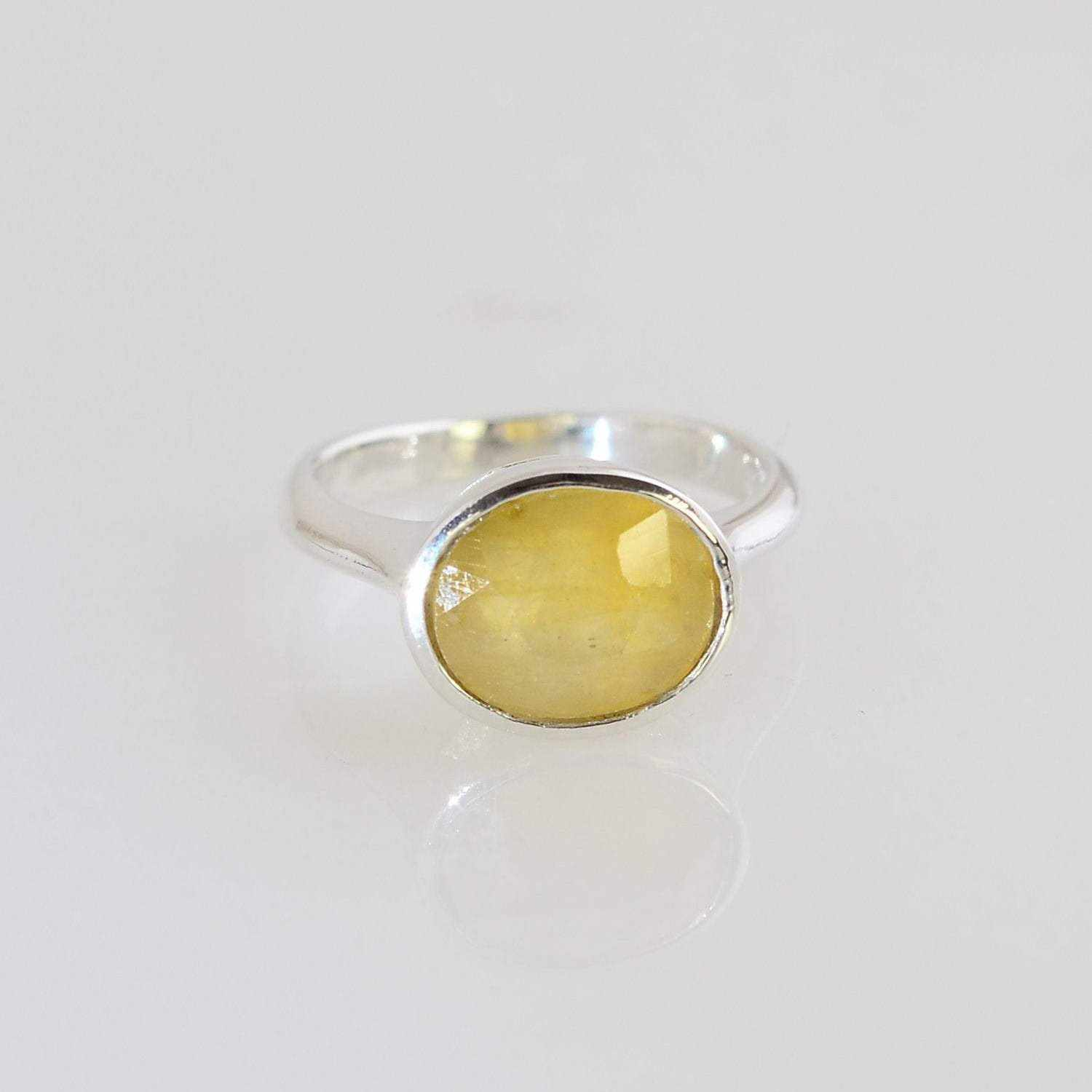 Yellow Sapphire Ring - Gems Ring - Statement Ring - Gold Ring - Oval cut Ring - Custom Design ring - Genuine Sapphire