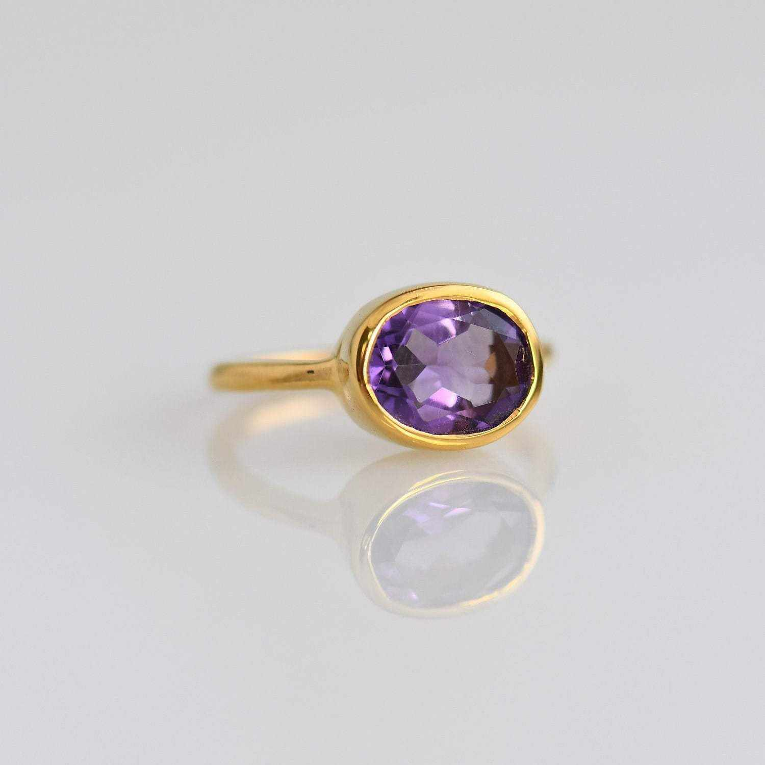 Amethyst Ring - Oval Ring