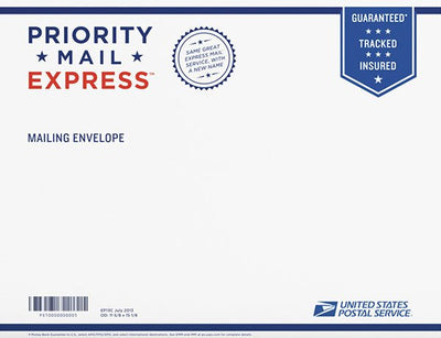 Upgrade Shipping to Priority EXPRESS Mail Guaranteed Delivery 1-2 Days