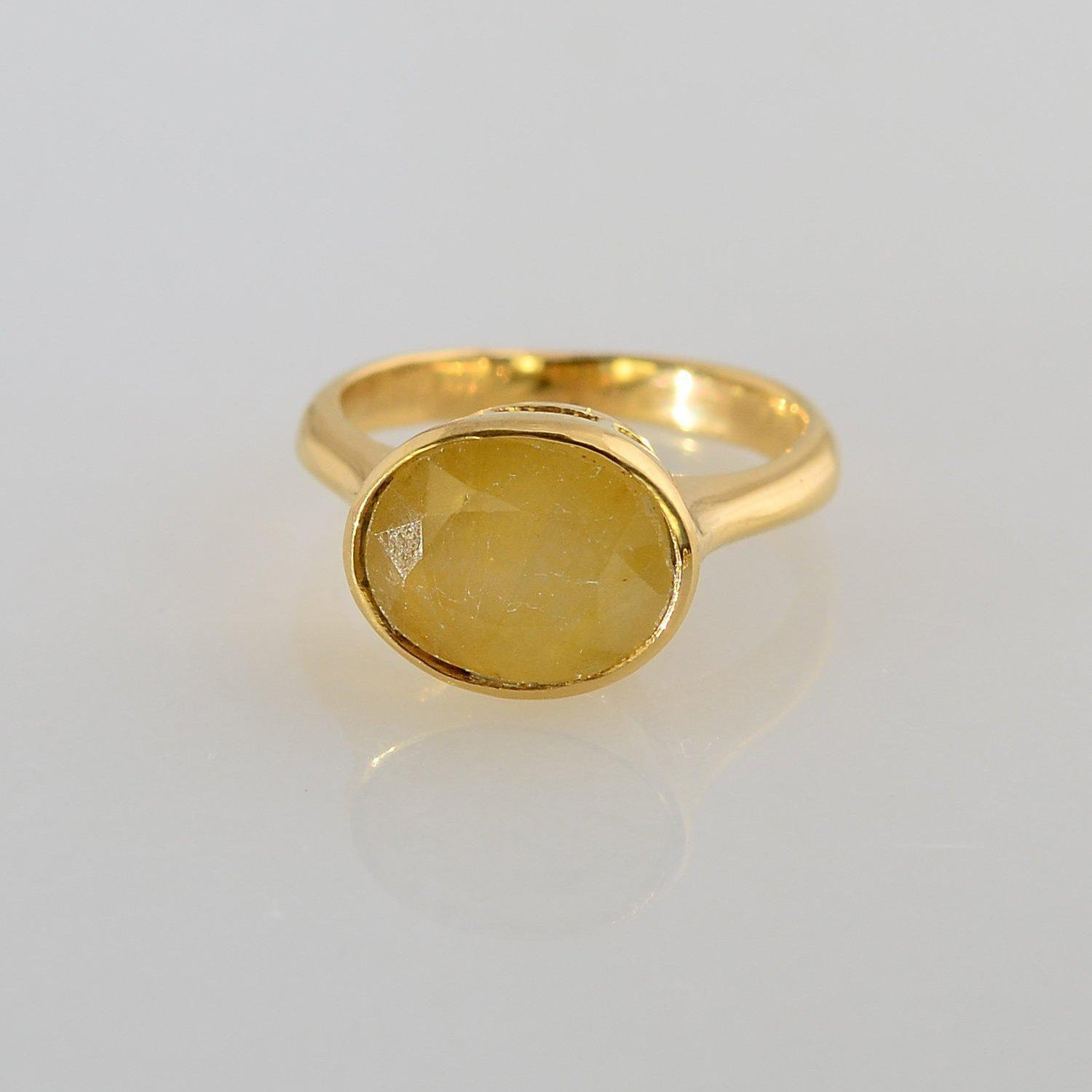 Sapphire Ring, Yellow Sapphire ring, gemstone ring, Gems Ring, Custom Gold Stackable Ring, Gold Ring, Oval Ring