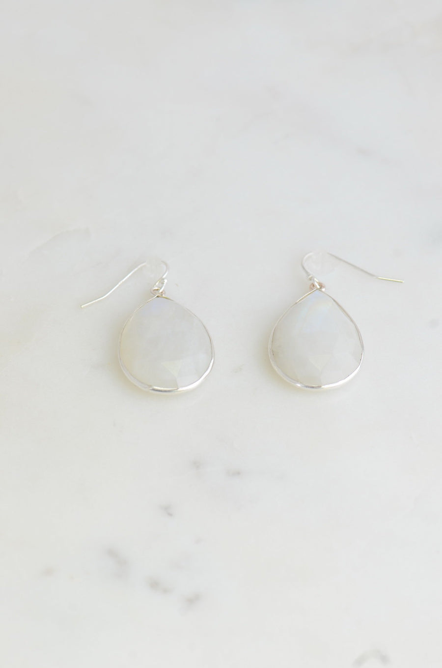 Valentine's Gift, Moonstone Earring, Rainbow Moonstone earring, Sterling Silver Earring, Simple Silver earring, June Birthstone Earring