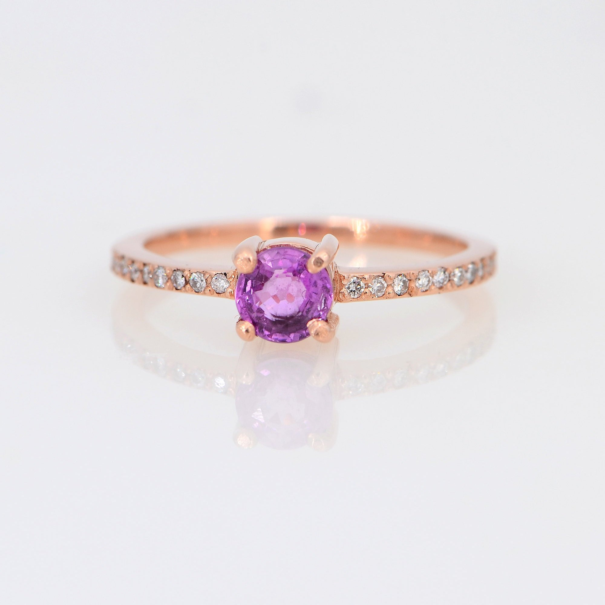 Pink Tourmaline ring, Multi Tourmaline Diamond Ring
