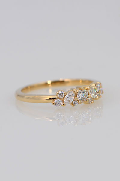 Delicate Diamond Ring, Solid Gold Minimalist Ring