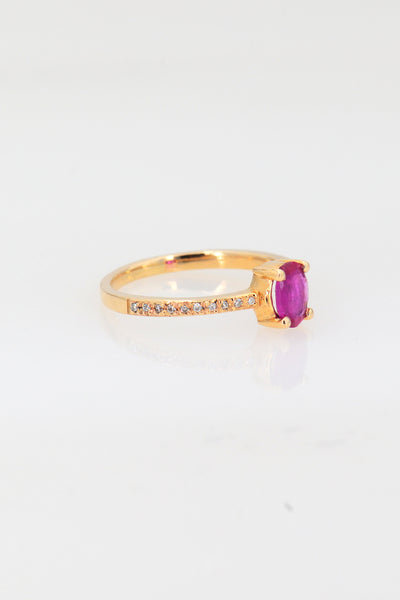 Ruby  Ring, Gold Minimalist Ring