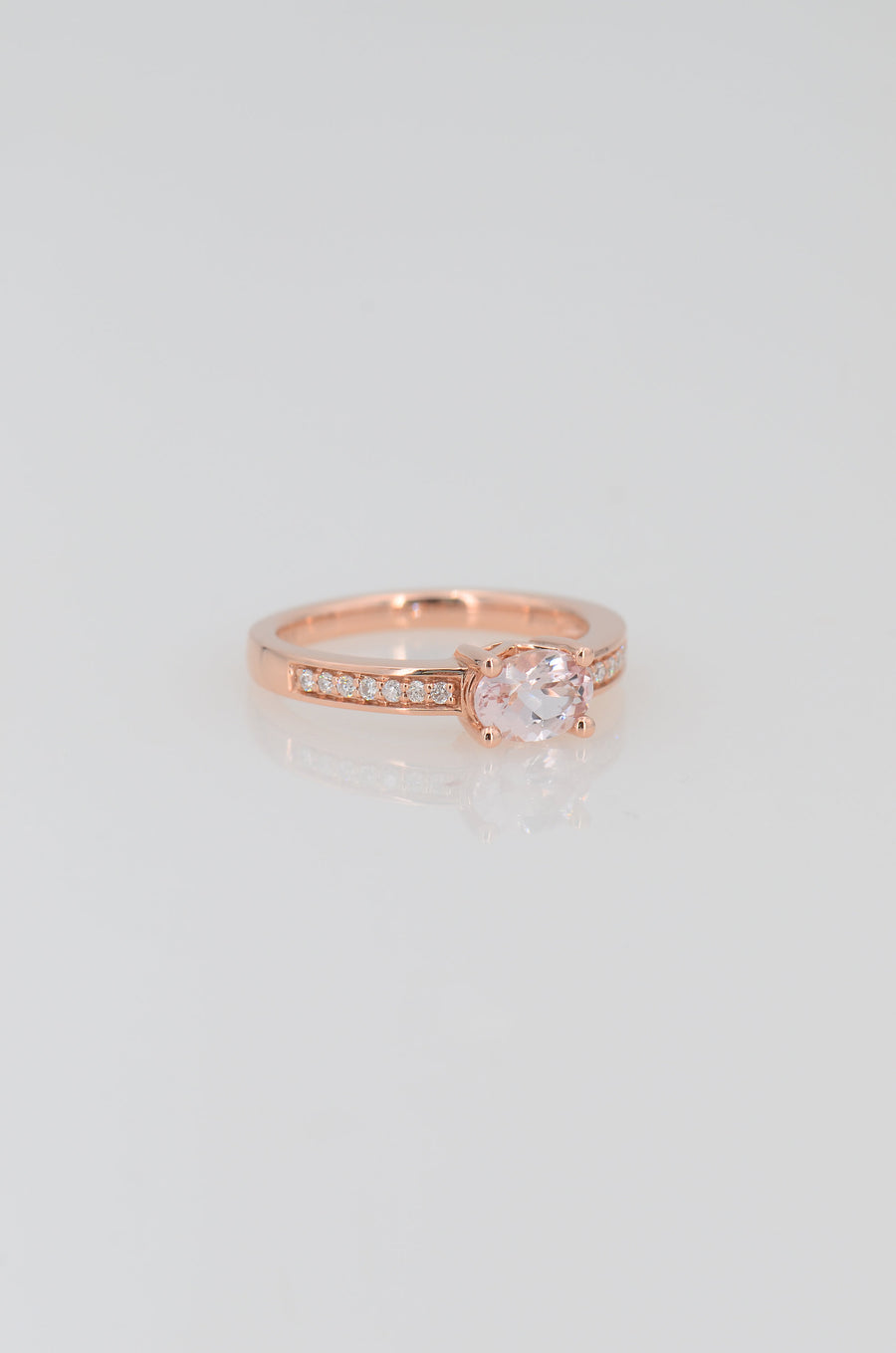 Morganite Halo Ring, Morganite Solitaire