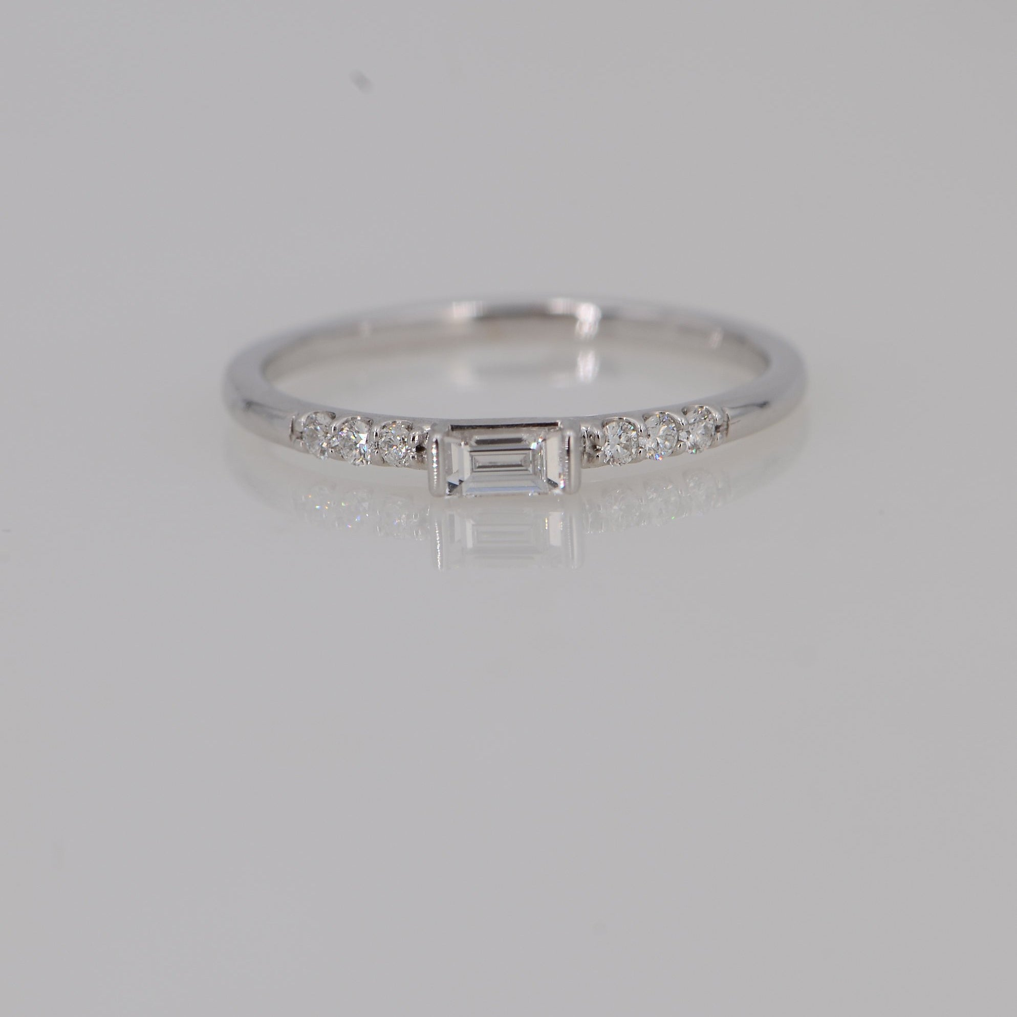 Delicate Diamond ring, Diamond white gold ring
