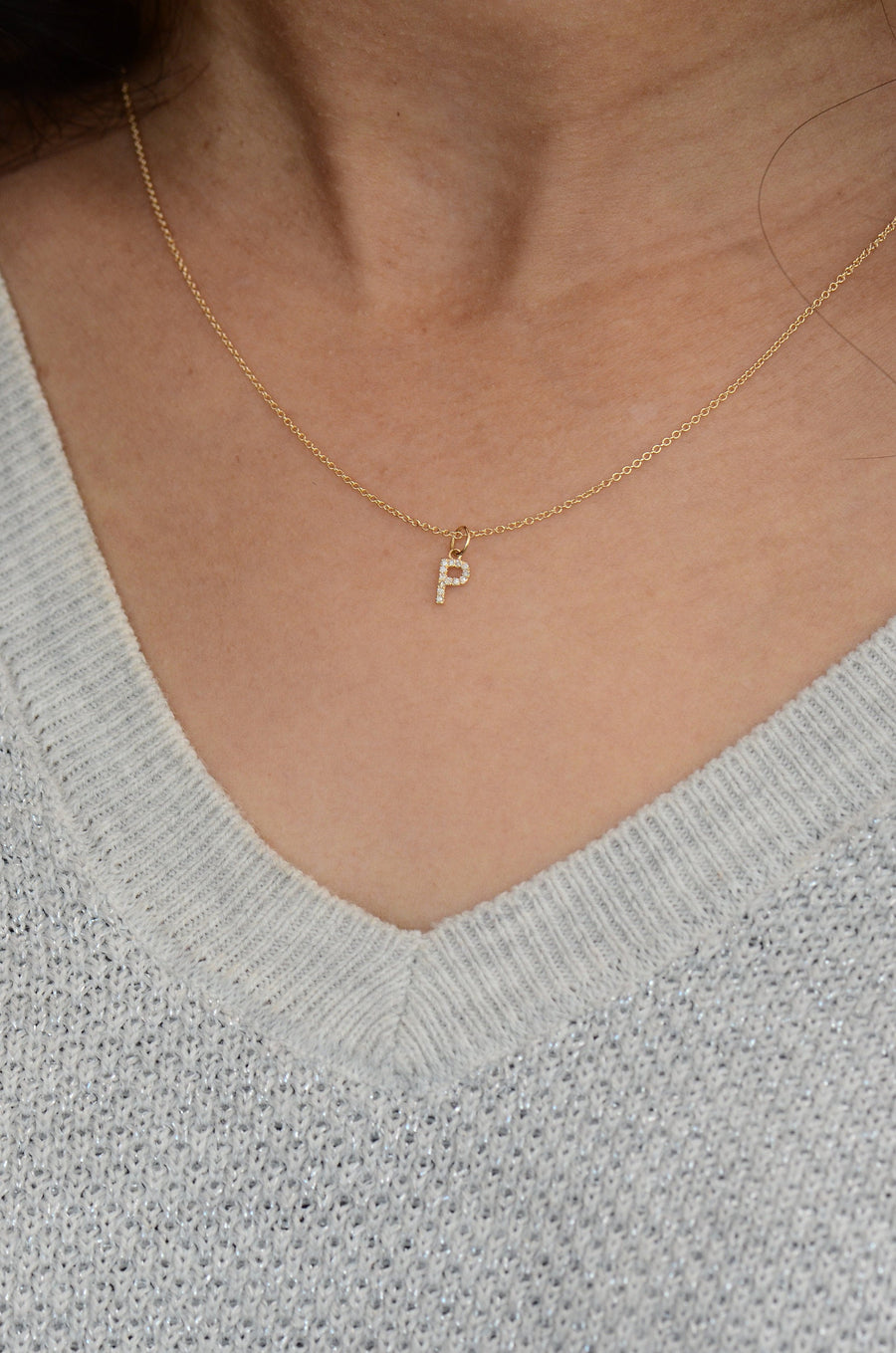 Alphabet necklace, Custom bridesmaid necklace