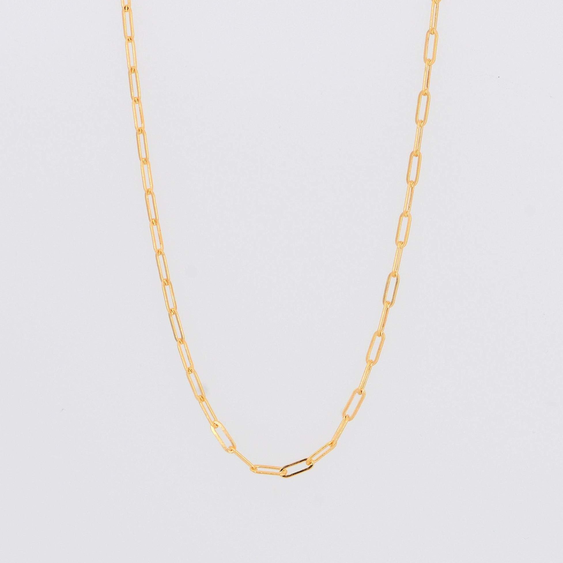 Paperclip Chain Necklace,Rectangle Link Chain