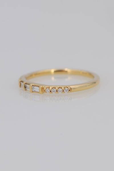 Tiny Diamond ring, Minimalist gold ring