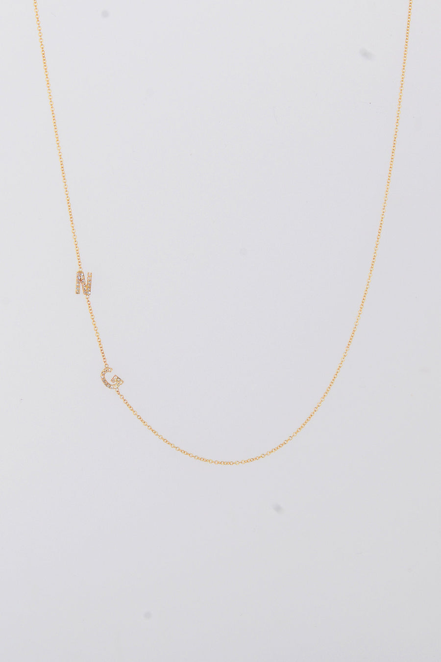 Asymmetrical Initials Necklace