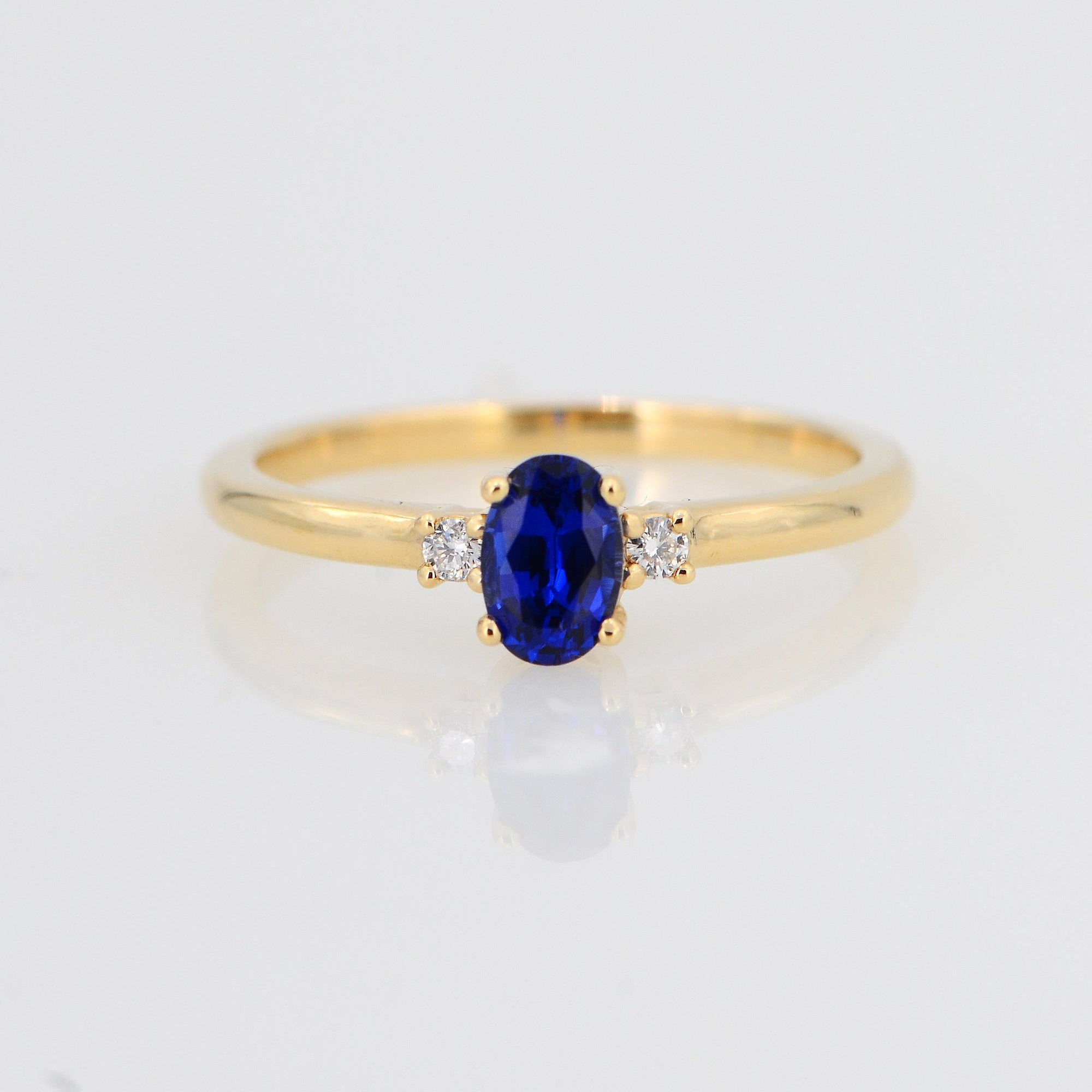 Blue Sapphire Ring, Diamond Ring