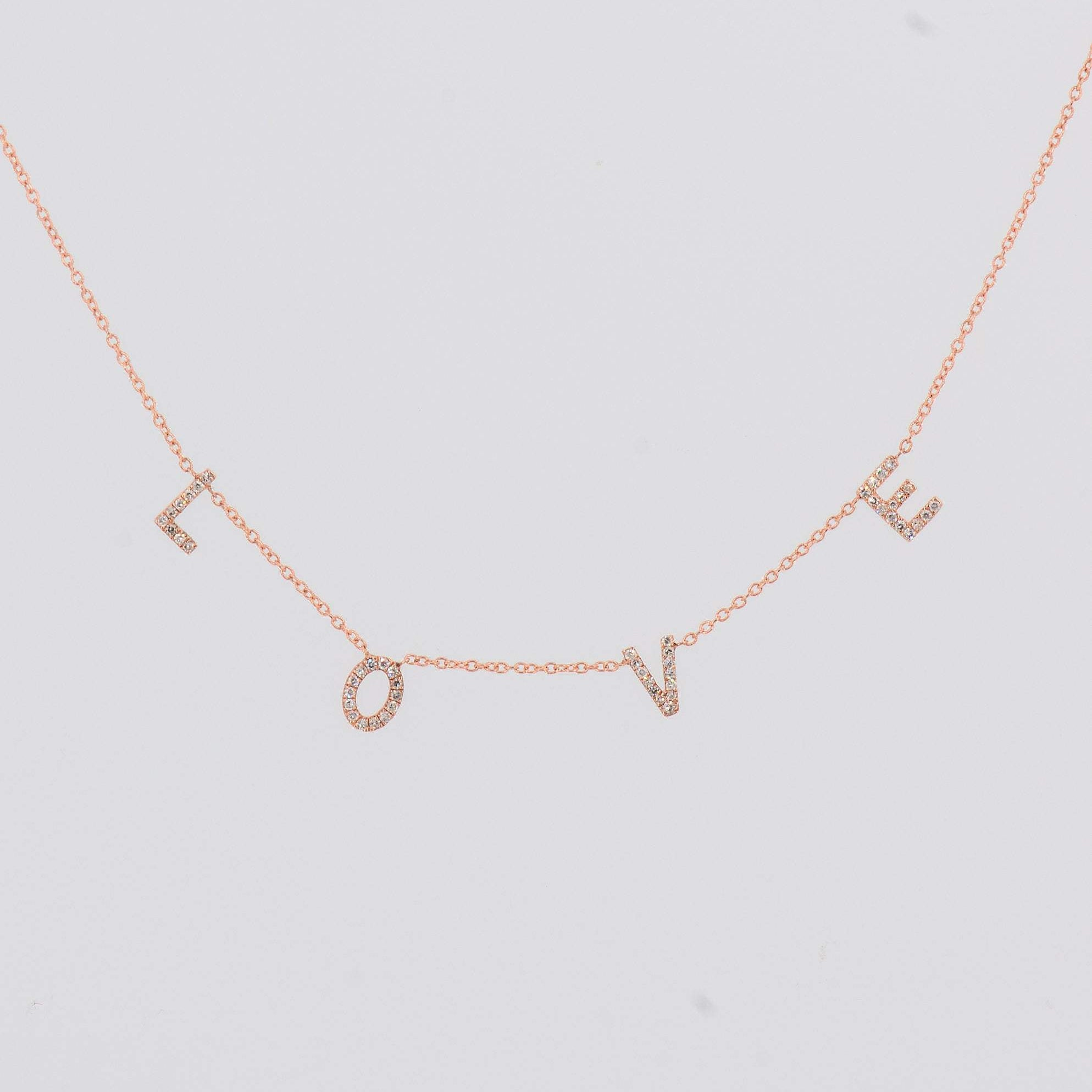 Love Necklace, Diamond Love Necklace