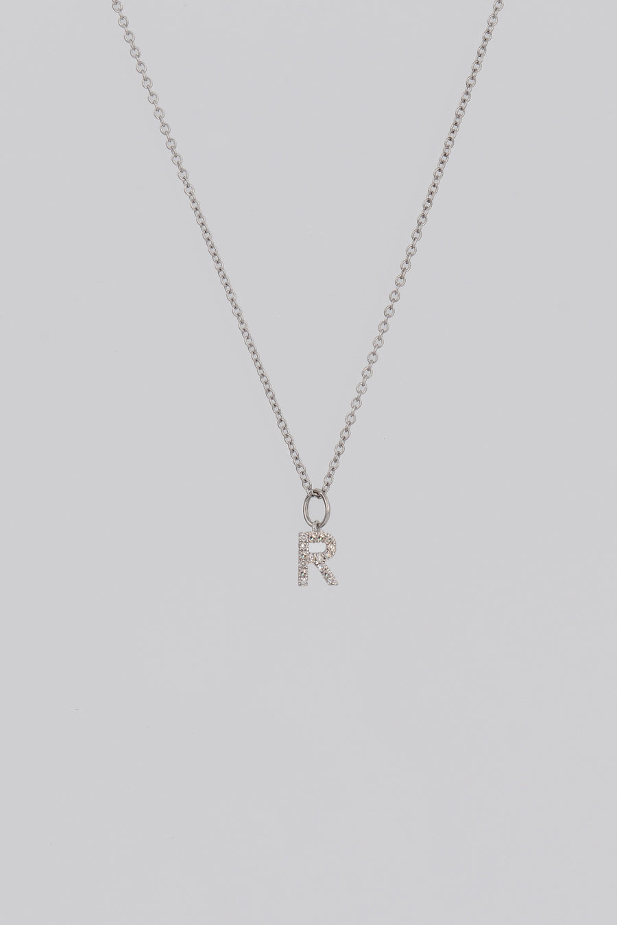 Alphabet necklace, Pave Initial Necklace