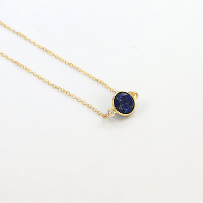 Lapis Delicate Gemstone Necklace - Navy Blue Dainty Necklace - Dark blue Necklace - Cute Gold Necklace - Gold Filled Necklace - Womens Gift
