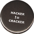 HACKER does not equal CRACKER