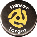 never forget (45 rpm record graphic)