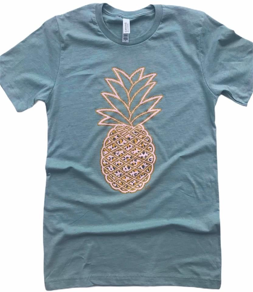 Foil Animal Print Pineapple Tee