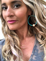 Picnic Hoop Earrings