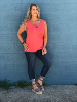 Curvy Everyday Criss Cross Tank Top
