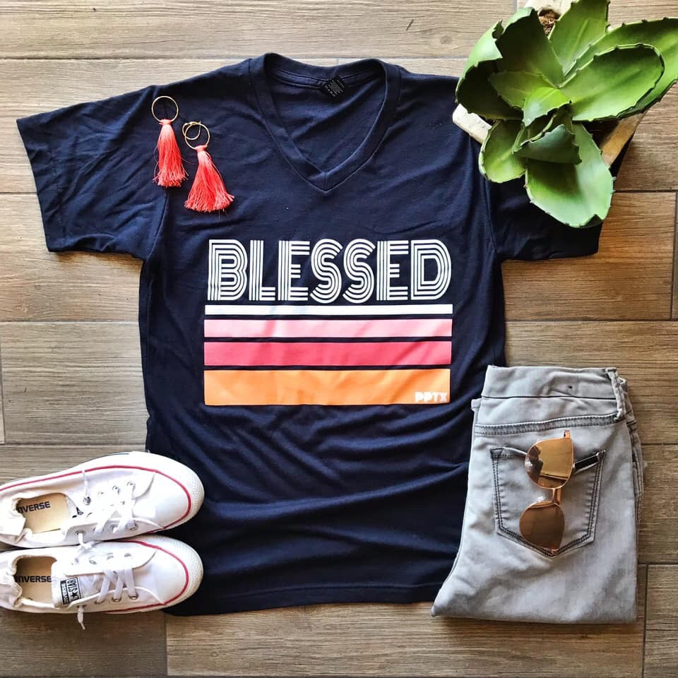 BLESSED stripes tee