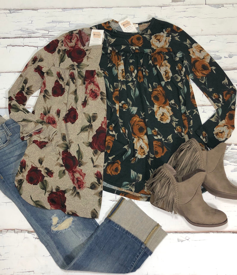 FINAL SALE Floral Flowy Tunic