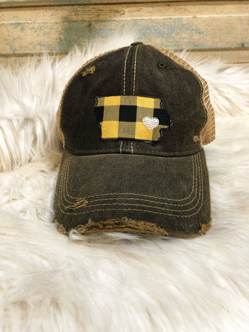 Iowa Plaid Trucker Cap