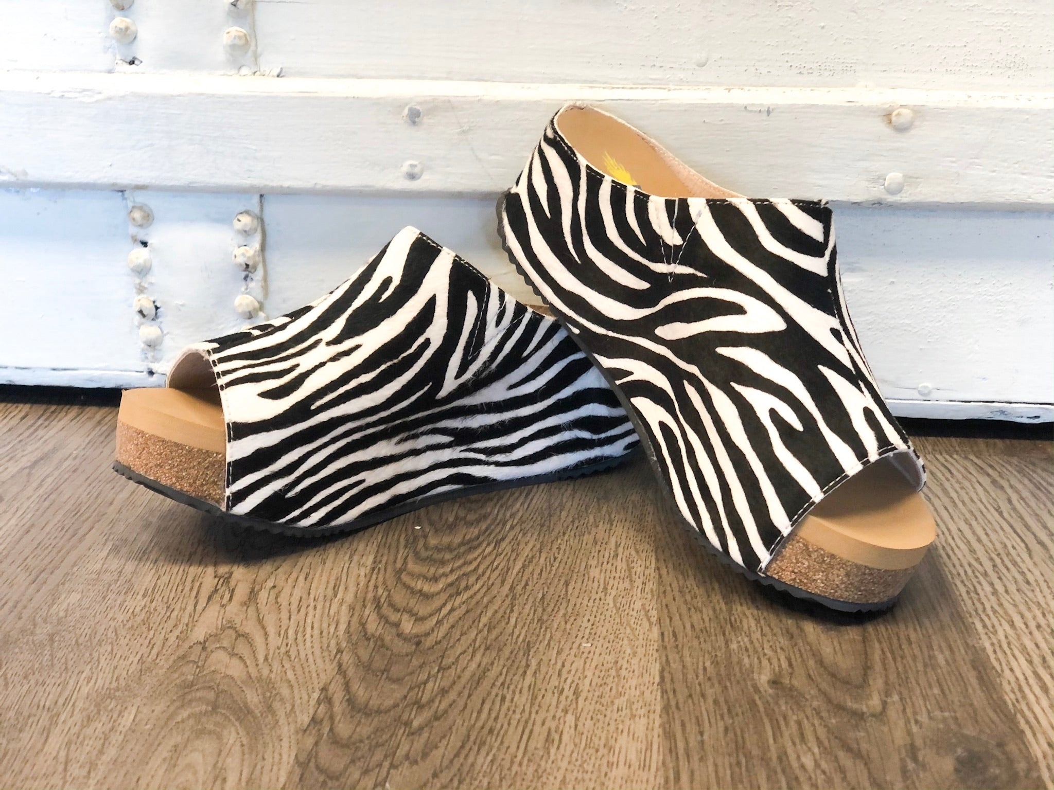 Zebra Verena Slide-On Sandals *Final Sale*
