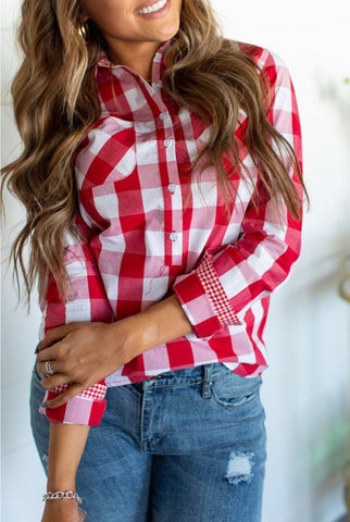 A&A Red Plaid Popover