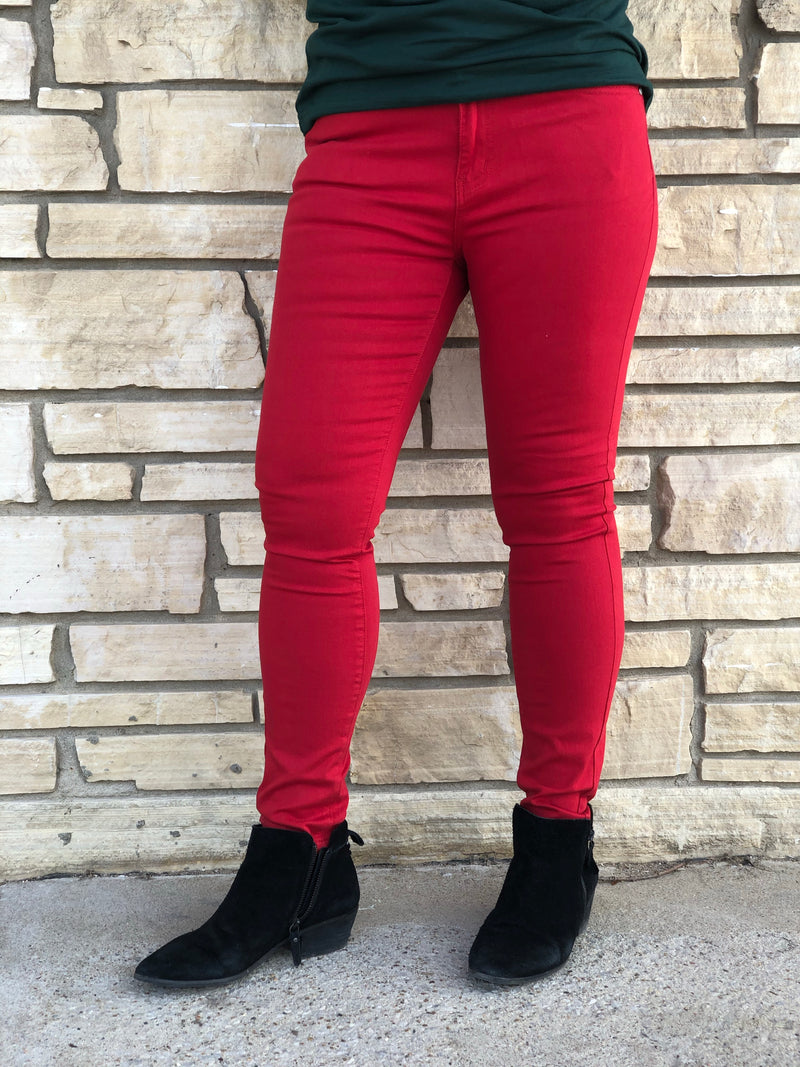 Jolly Red Denim Jeans Final Sale