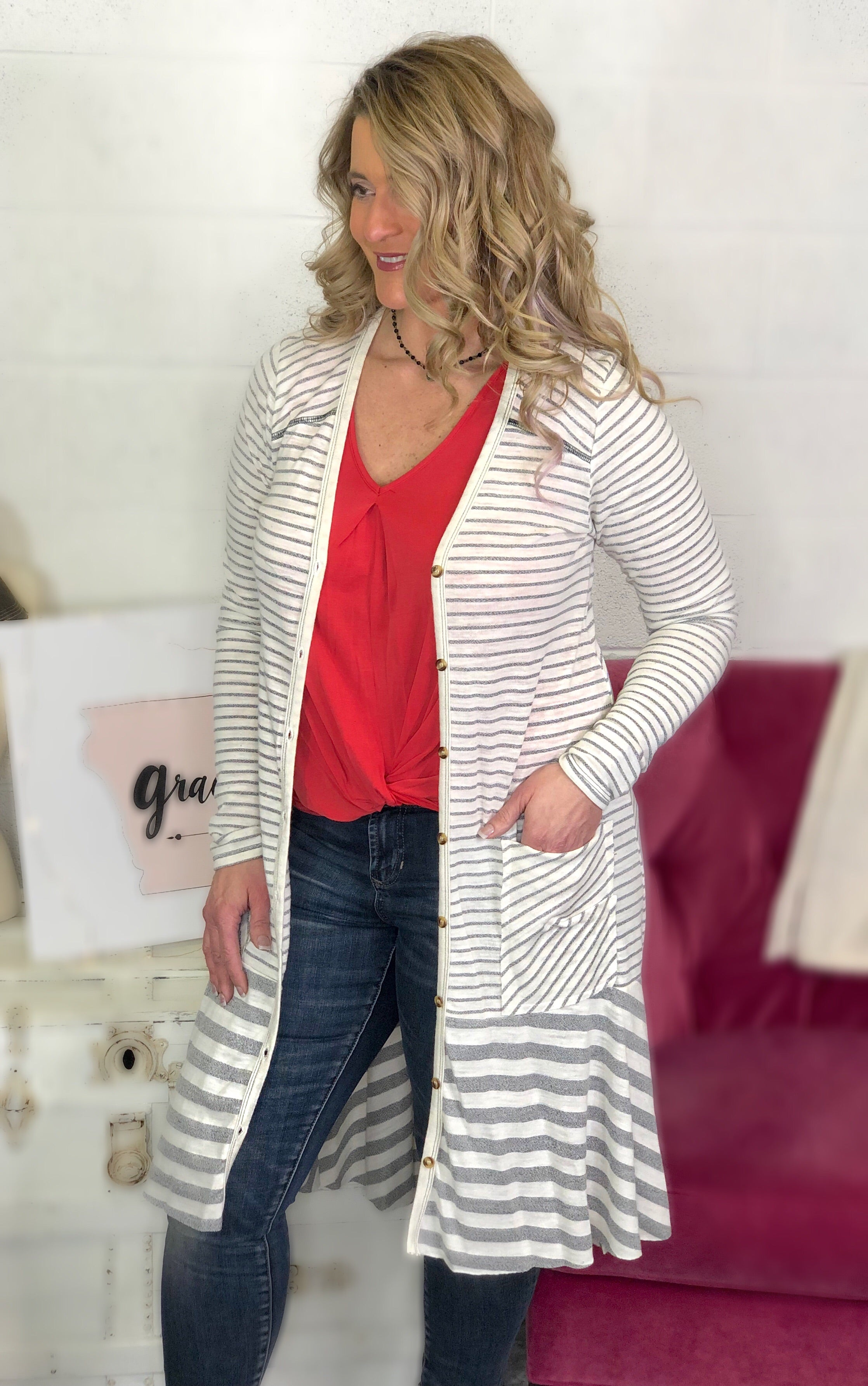 All About Stripes Duster *Final Sale*