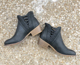 Detailed Black Booties Final Sale