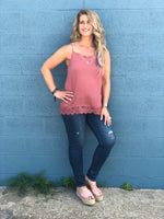 Graced by Lace Cami Tank FINAL SALE
