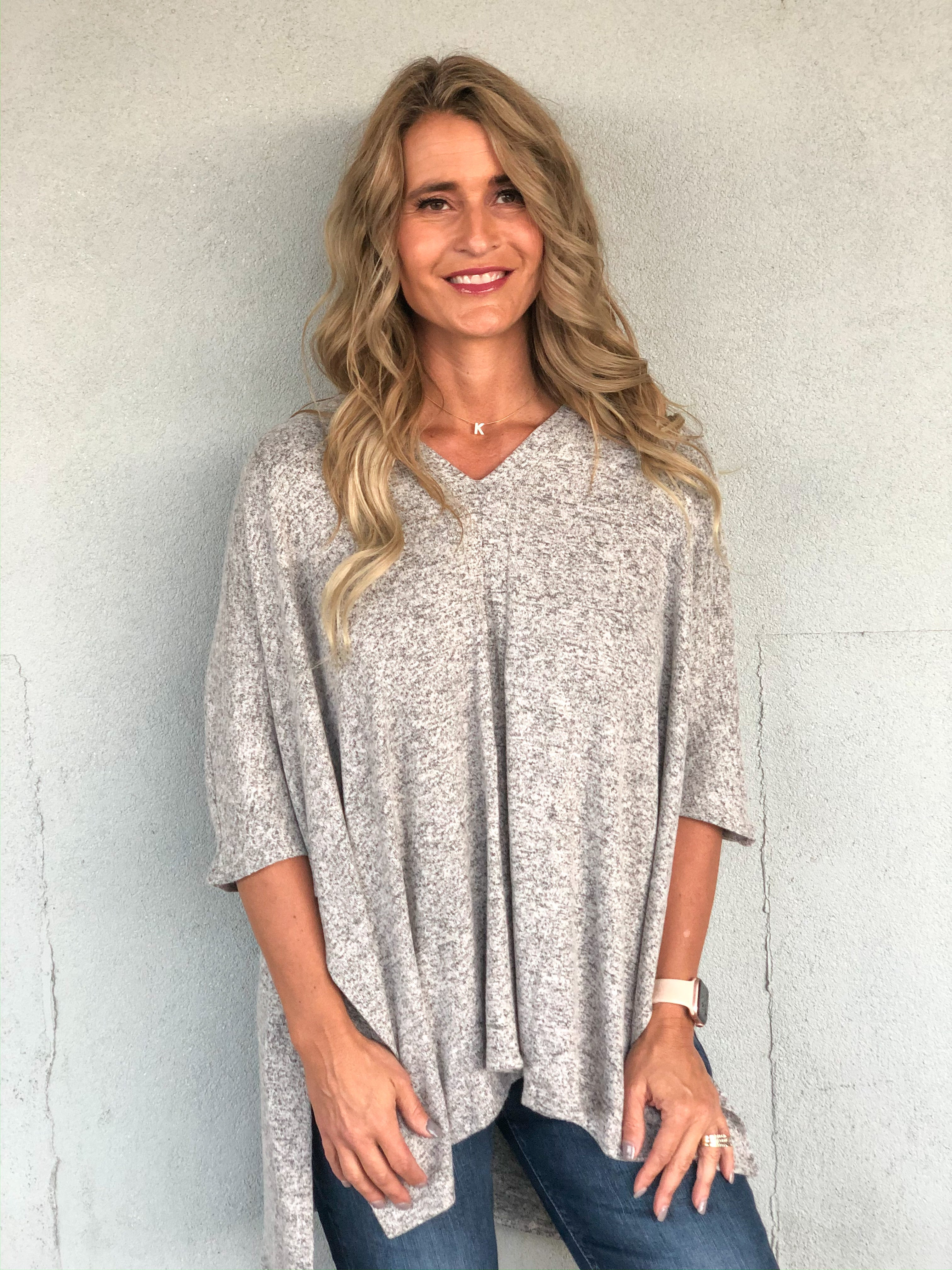 Brushed Up Oversized Poncho Top Final Sale *Final Sale*