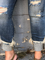 Judy Blue Madison Cuffed Destroyed Jeans 07