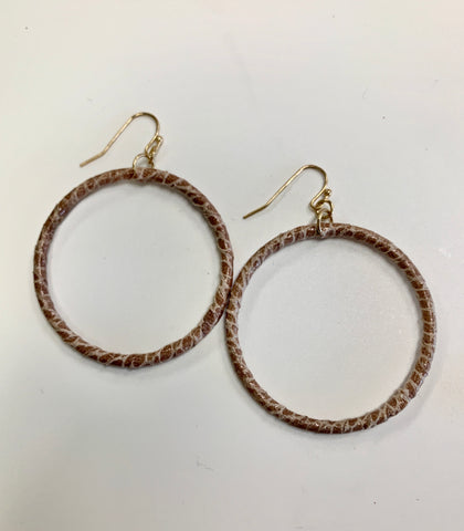 Animal Print Wrap Hoops