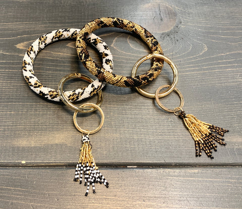 Animal Bead Bracelet Key Ring