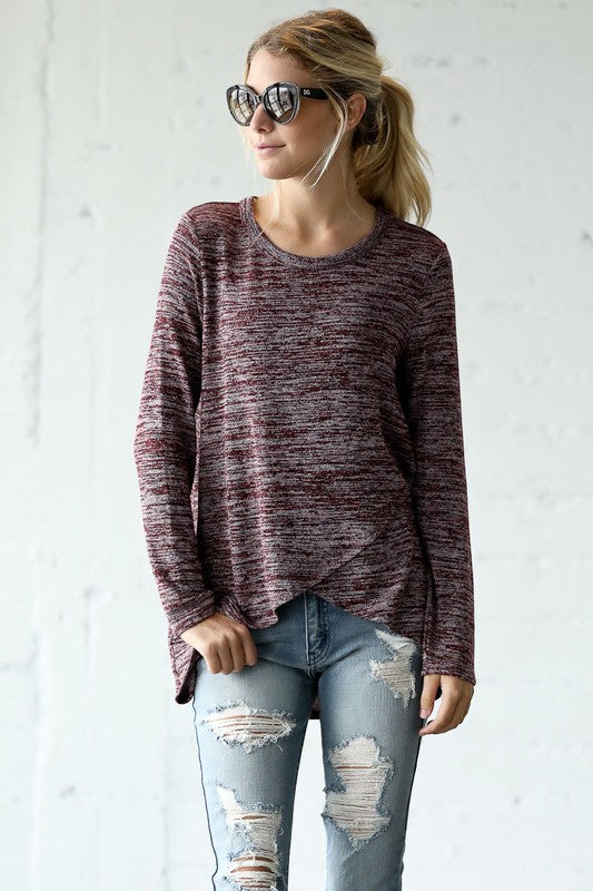 Marbled Layered Top
