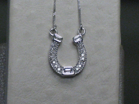 Diamond Horseshoe Pendant 15-246