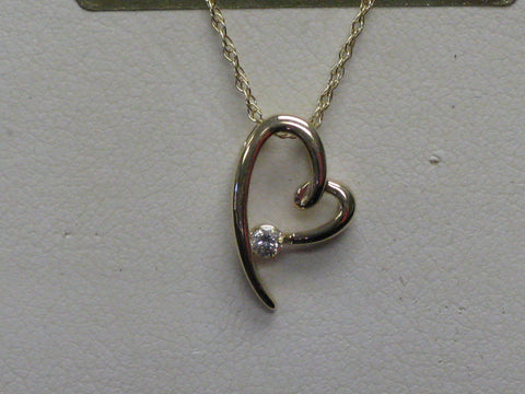 Diamond Heart Pendant 15-296