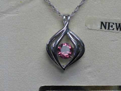 Shimmerng Pink Sapphire Pendant 15-297