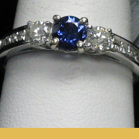 Montana Yogo & Diamond Engagement Ring 15-4