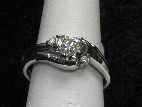 Heart Diamond Wedding Set 15-291