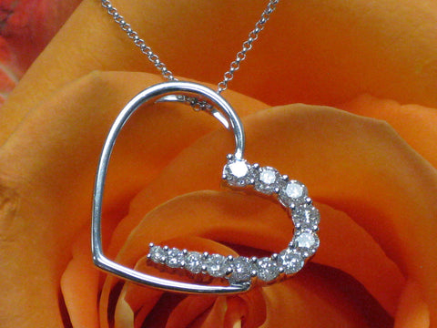 Diamond Heart Pendant  15-85