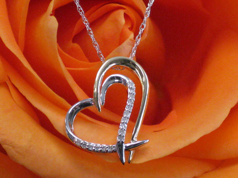 Diamond Heart Pendant 15-322